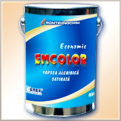 "Alkyd paint satin economic ""Emcolor"""